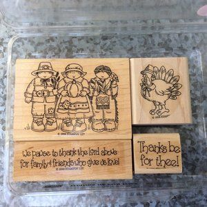 Stampin Up Thanks Be for Thee Rubber Stamp